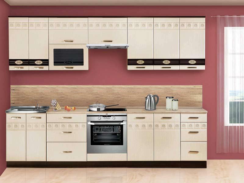 Кухня Аврора АВРОРА-10-2 Кухня Аврора 10, вариант 2 Материал и цвет фасадов: МДФ Беленый дуб + стеклянная...
